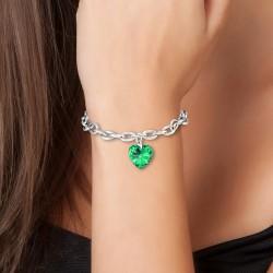 Bracelet coeur vert BR01...