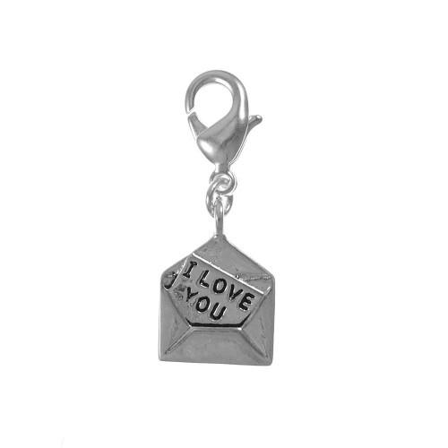 Charm lettre I love you So Charm plaqué argent 3 microns