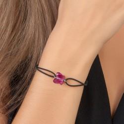 Bracelet noir et papillon...