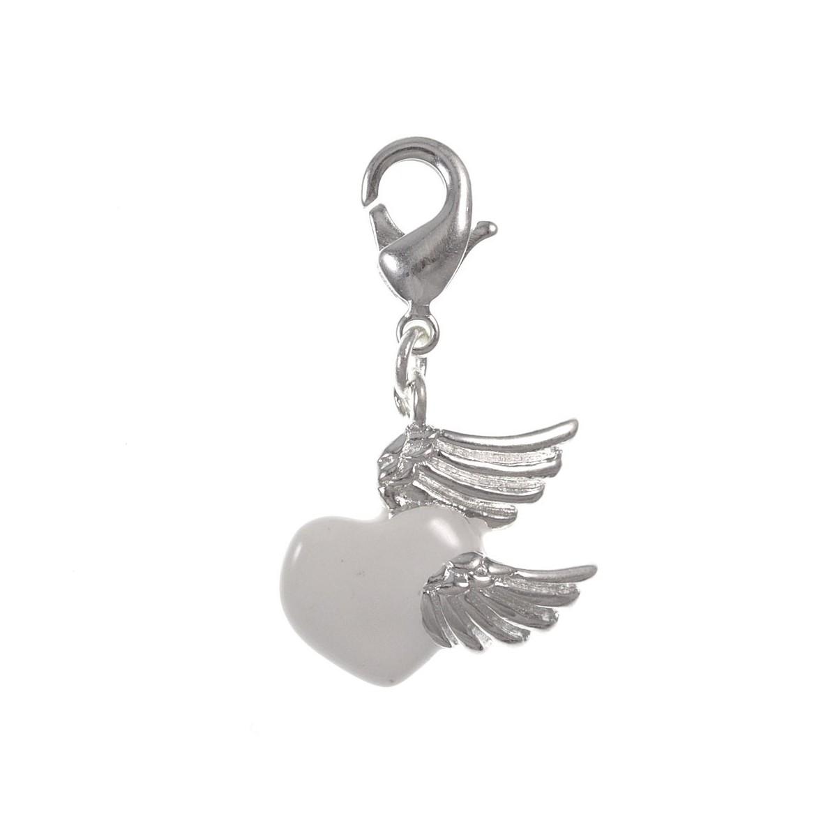 Charm coeur blanc ailes So Charm
