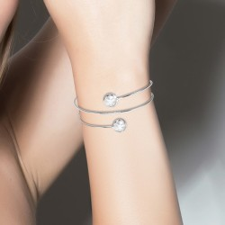 Bracelet croisé BR01 orné...