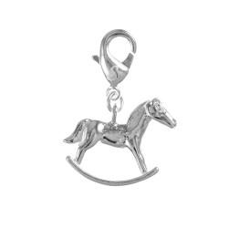Charm cheval à bascule argent 3μm