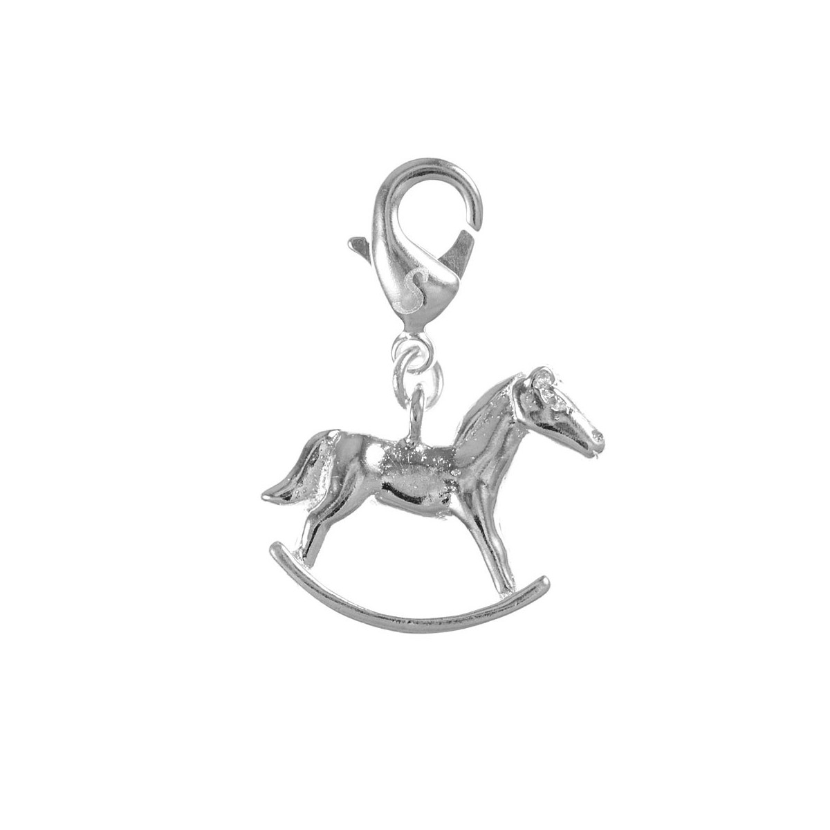 Charm cheval à bascule So Charm plaqué argent 3 microns