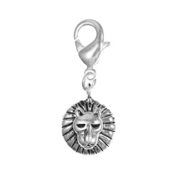 Charm tête de lion argent 3μm