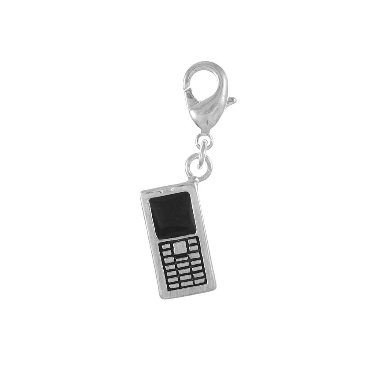 CH0522 Charm téléphone portable So Charm plaqué argent 3 microns