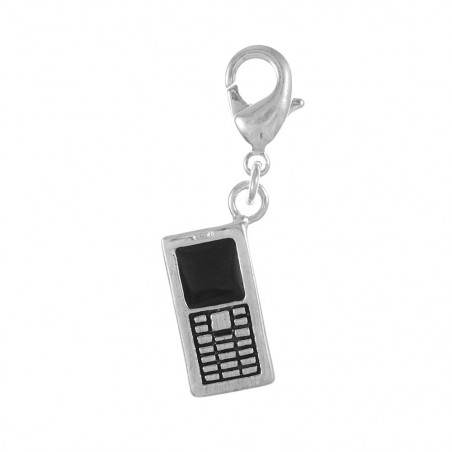 Charm téléphone portable argent 3μm