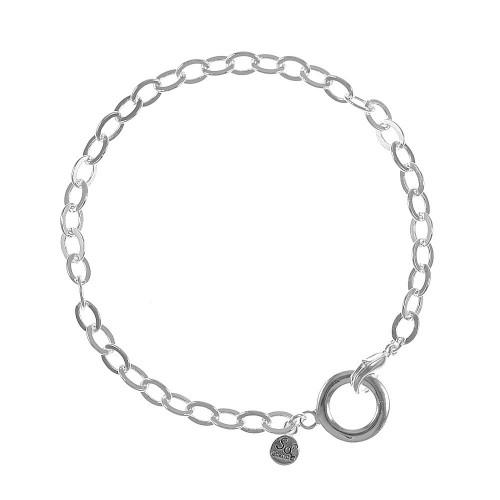 Bracelet chaine porte-charms So Charm plaqué argent 3 microns