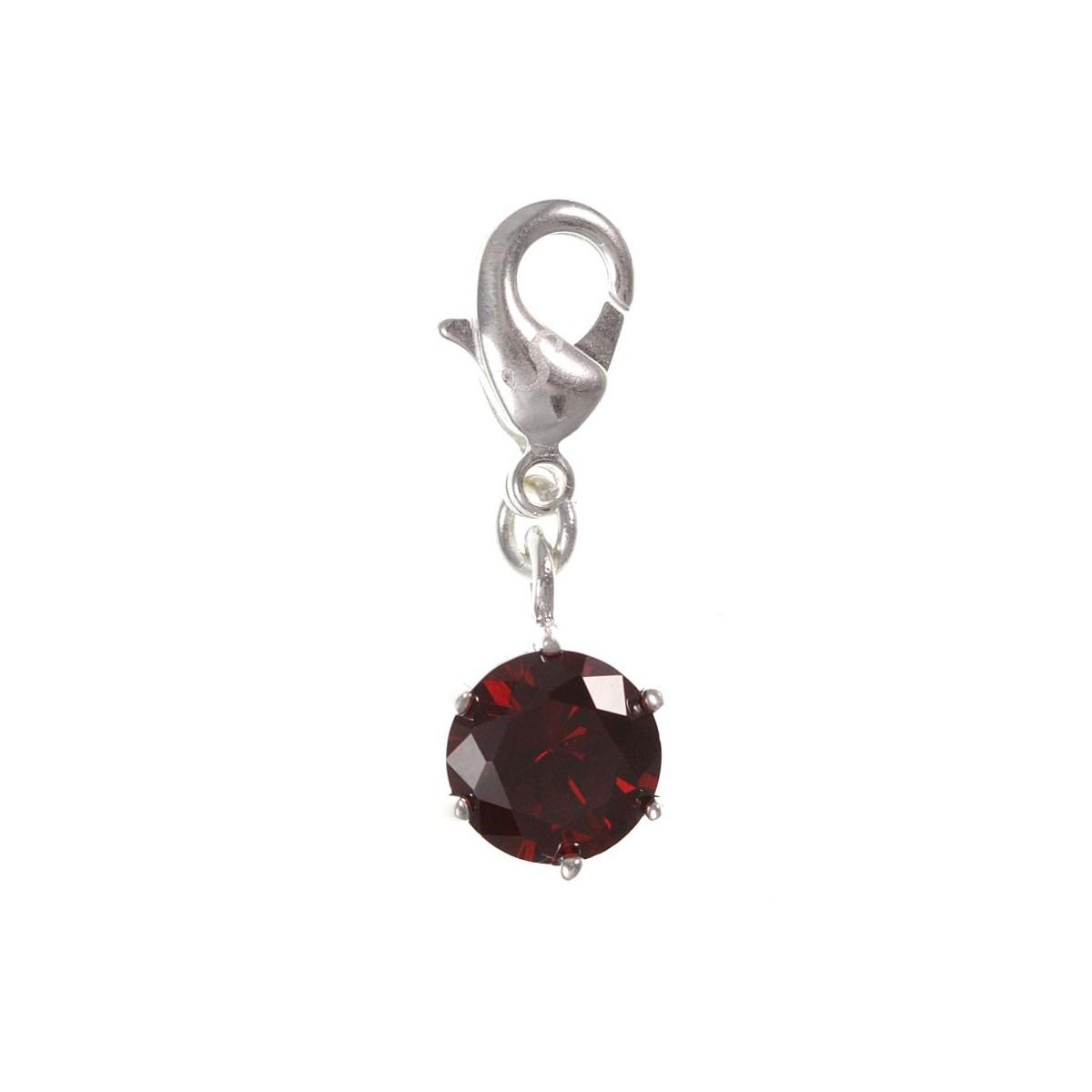 Charm cristal rouge So Charm plaqué argent 3 microns
