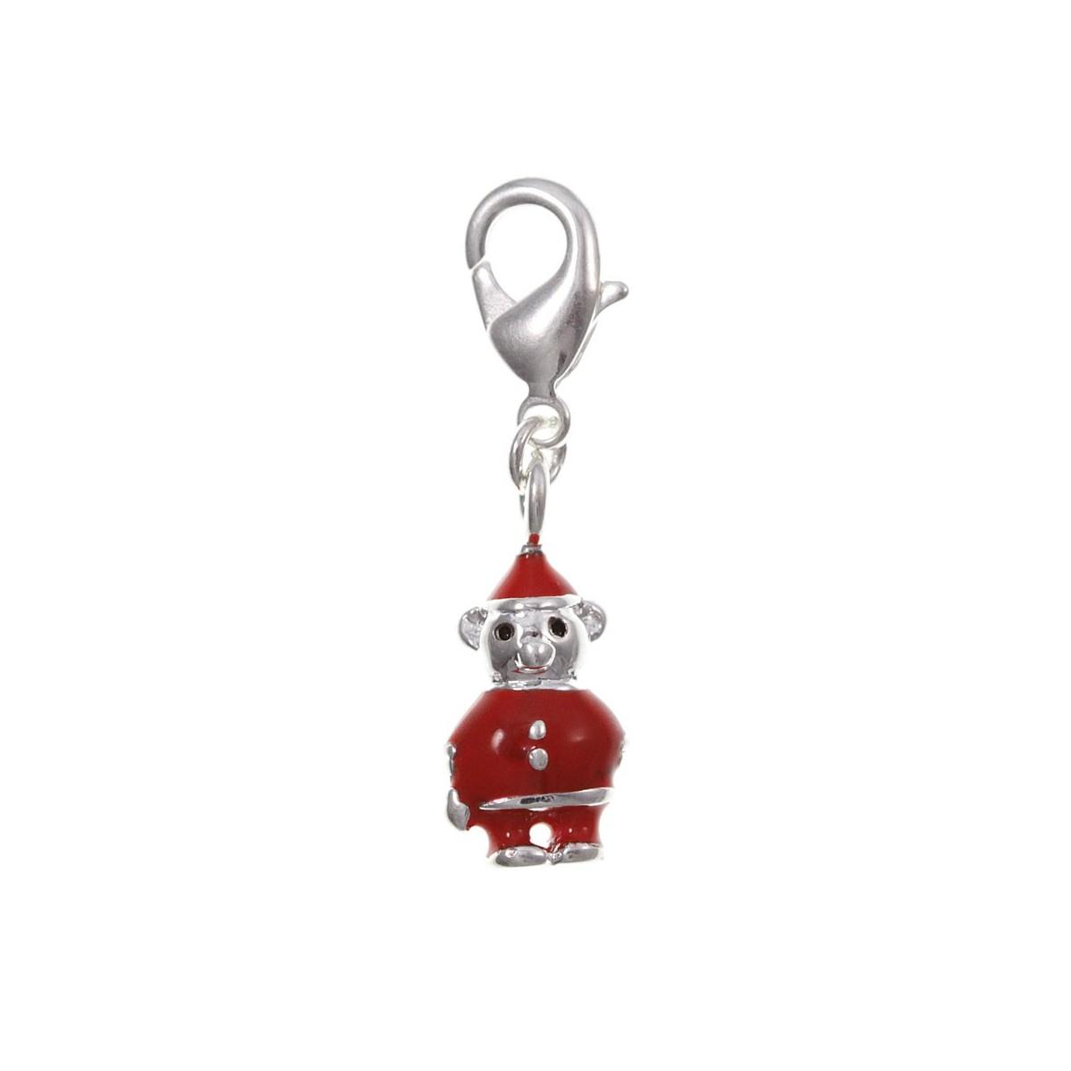 Charm lutin rouge So Charm plaqué argent 3 microns