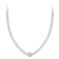 Steel necklace adorned with...