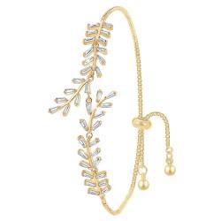 Bracelet doré BR01 en Métal...