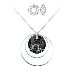 Round silver necklace...