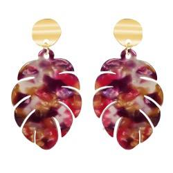 BR01 banana leaf earrings...
