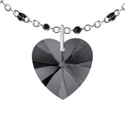 Collier perles noires orné...