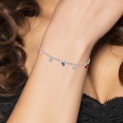 Cable mesh bracelet and...