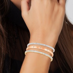 3 bracelets in stainless...