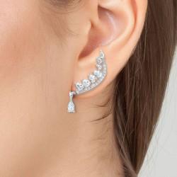 Earrings by BR01 in Rhodium...