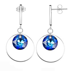BR01 silver earrings with...