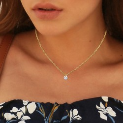 Cable chain and crystal by...