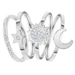Conjunto de 4 anillos talla...
