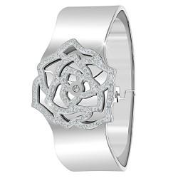 Bracelet fleur orné de...