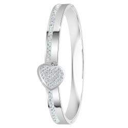 Bracelet coeur orné de...
