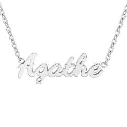 Agathe name necklace