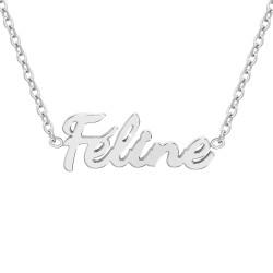 Collier à message Féline