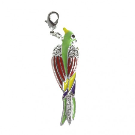 Charm perroquet strass