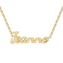 Jeanne name necklace
