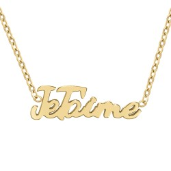 I love you message necklace