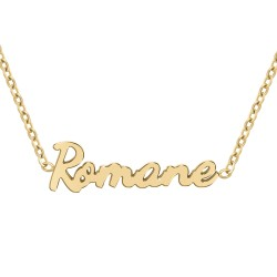 Roman name necklace