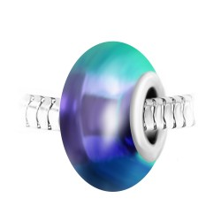 Blue pearl and steel charm...