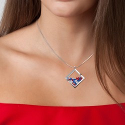 Necklace BR01 adorned with...