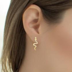 Boucles d'oreilles serpent...