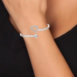 Heart bracelet adorned with...
