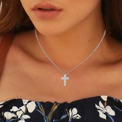 Collier croix BR01 orné de...