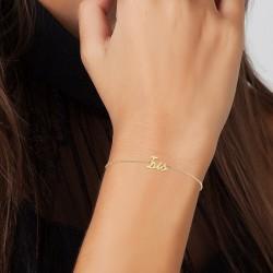 Iris name bracelet