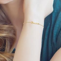 Roman name bracelet
