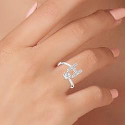 Adjustable letter H ring...