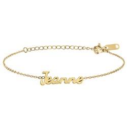 Jeanne name bracelet