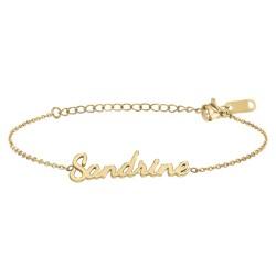 Sandrine name bracelet