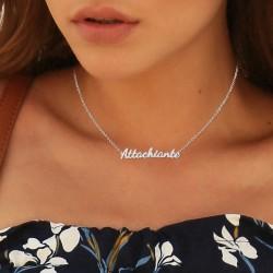 Attachiante message necklace