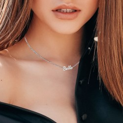 Belle message necklace