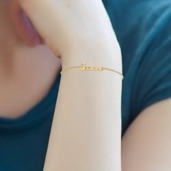 Bracelet prénom Jeanne