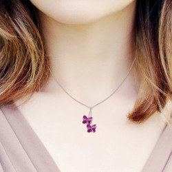 Collier mode papillons BR01...