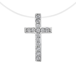 Collier croix en nylon par...