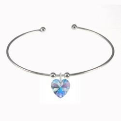 BR01 heart bracelet adorned...