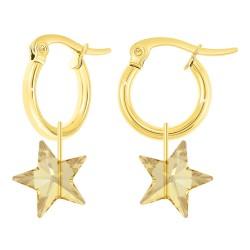 Hoop earrings adorned with...