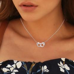 Handcuff necklace adorned...